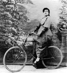 Qajar_Lady_Riding_Bicycle